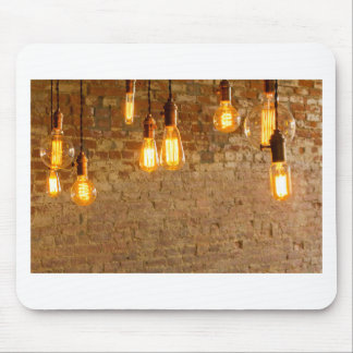 Lightbulbs Background Mouse Pad