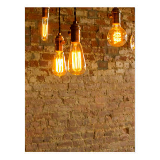 Lightbulbs Background Postcard