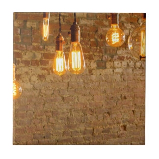 Lightbulbs Background Tile