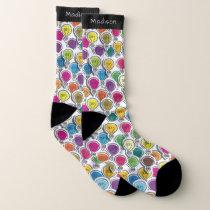 Lightbulbs Pattern custom name socks