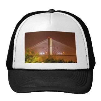 lighted bridge savannah georgia trucker hat