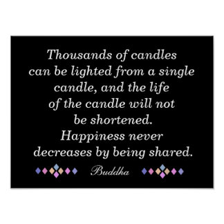 Lighted Candle - Buddha quote - Print