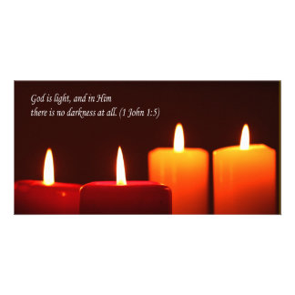 lighted candle photocard card