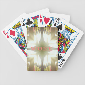 """Lighted Candles """"Woke"""" Understanding Issues Bicycle Playing Cards"""