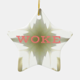 "Lighted Candles ""Woke"" Understanding Issues Ceramic Ornament"