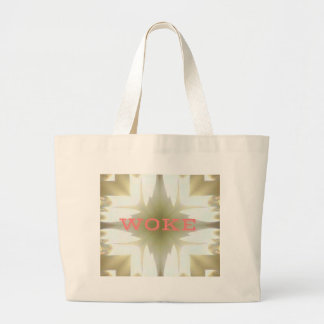"""Lighted Candles """"Woke"""" Understanding Issues Large Tote Bag"""