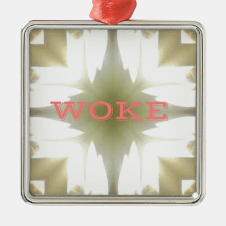 "Lighted Candles ""Woke"" Understanding Issues Metal Ornament"