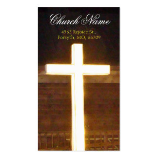 Lighted Cross Business2 Handout Cards- personalize Double-Sided Standard Business Cards (Pack Of 100)