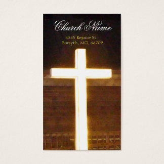 Lighted Cross Business2 Handout Cards- personalize Business Card