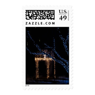 Lighted Gazebo with Icicles Postage