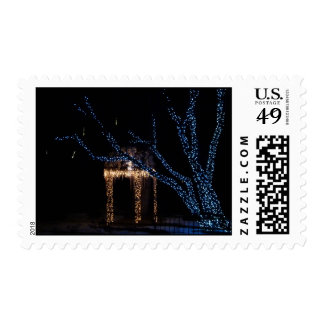 Lighted Gazebo with Icicles Stamp