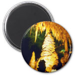 Lighted Interior Of Carlsbad Caverns National Park 2 Inch Round Magnet