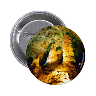 Lighted Interior Of Carlsbad Caverns National Park Pinback Buttons