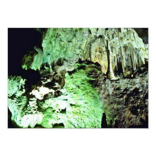 """Lighted Interior Of Carlsbad Caverns National Park 5"""" X 7"""" Invitation Card"""