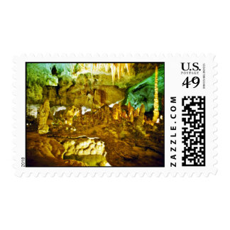 Lighted Interior Of Carlsbad Caverns National Park Stamp