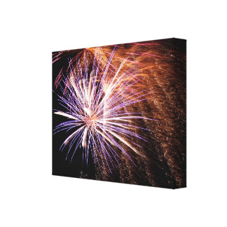 Lighted Sparks! Stretched Canvas Print