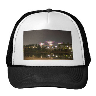 Lighted super trees at Gardens by the Bay Trucker Hat
