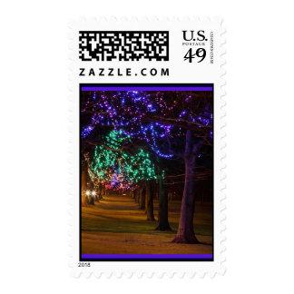 Lighted Trees Postage-Custom Postage Stamps