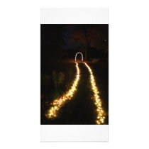 Lighted walkway to Arch of lights Card