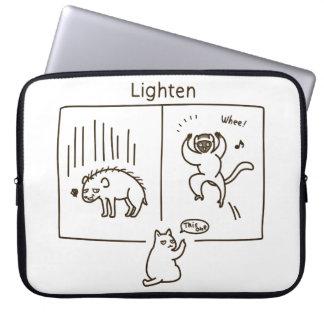 Lighten (brown) computer sleeve