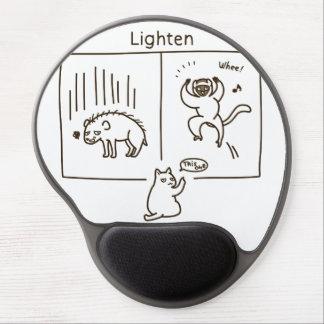 Lighten (brown) gel mouse pad