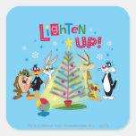 Lighten Up Square Stickers