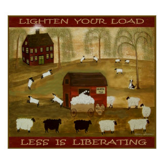 LIGHTEN YOUR LOAD 36 x 32 Print + Other Sizes Poster