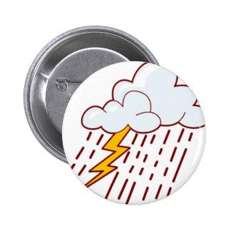 lightening702 CARTOON LIGHTENING STORM RAIN CLOUDS Button