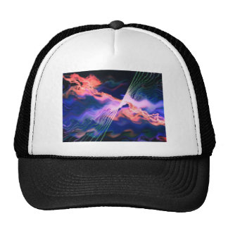 lightening above the waves mesh hat