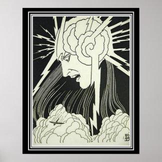"""Lightening"" Art Deco 16 x 20 Print"