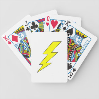 LIGHTENING BOLT BICYCLE PLAYING CARDS