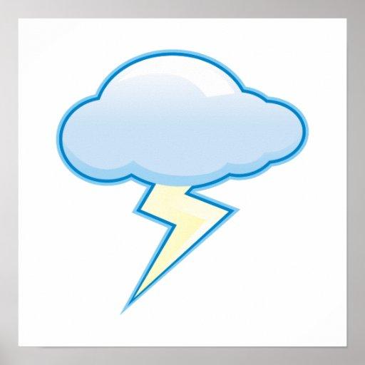 Lightening cloud poster