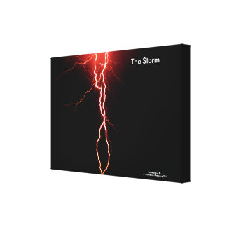 Lightening Flash image for wrapped-canvas Canvas Print