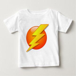 Lightening Flash on Orange Ball Baby T-Shirt