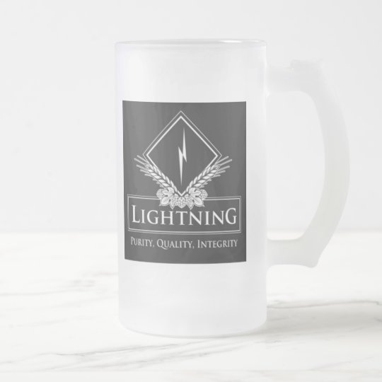 Lightening Frosted Glass Beer Mug