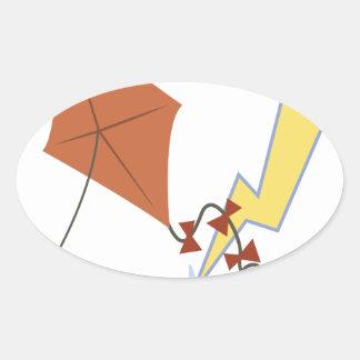 Lightening Strike Oval Sticker