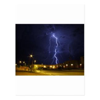 Lightening strike post cards