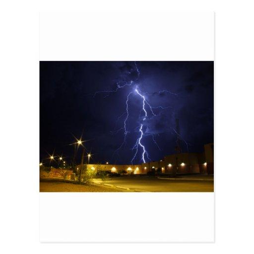 Lightening strike postcard
