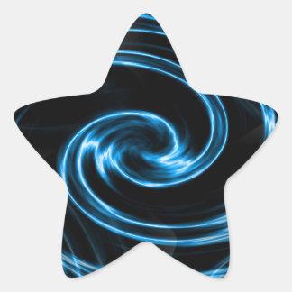 Lightening Swirl Star Sticker