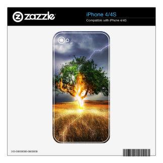 Lightening Tree iPhone 4 Skin