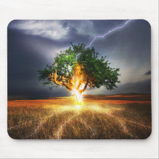 Lightening Tree Mouse Pad