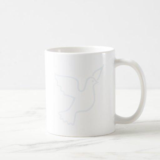 Lighter Blue Peace Dove Classic White Coffee Mug
