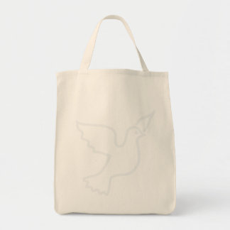 Lighter Blue Peace Dove Tote Bag