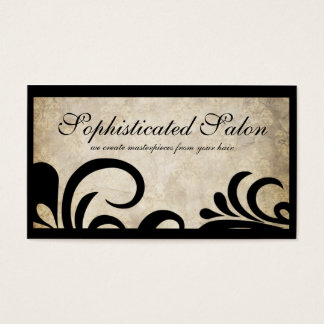 Lighter Modern Sophisticated Designer Salon Business Card