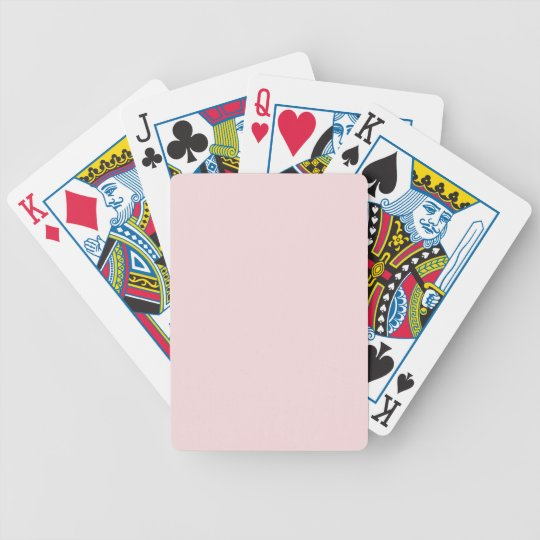 Lightest Peachy Pink Fashion Color Trend 2014 Bicycle Playing Cards