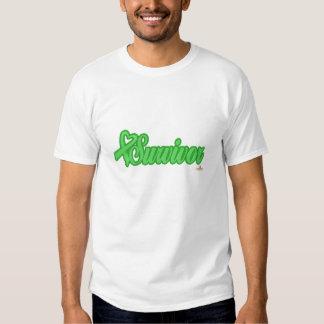 LightGreenHeartRibbonSurvivor T Shirt