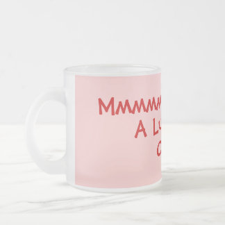 lighthearted rhyming slang drinking slogan frosted glass coffee mug