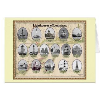 Lighthoues de la tarjeta de felicitación de Luisia
