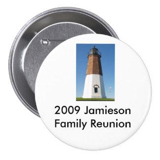 lighthouse1, 2009 Jamieson Family Reunion 3 Inch Round Button