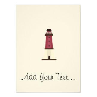 Lighthouse 5.5x7.5 Paper Invitation Card
